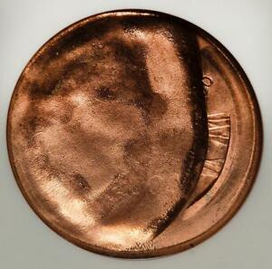 2000 ANACS MS63RD Counterbrockage Broadstruck Lincoln Cent Mint Error Amazing