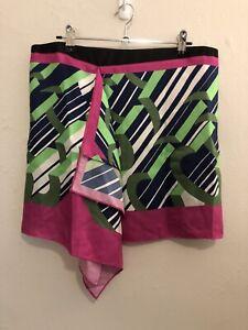 CARVEN Size 40 Silk Skirt Handkerchief