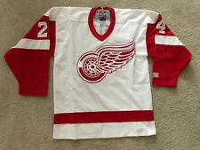 New NHL CCM Detroit Red Wings # 24  Chelios Hockey Jersey Youth L/XL