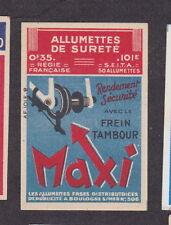 Ancienne étiquette allumettes France  BN18918 Frein tambour Maxi