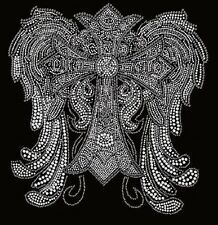 Crystal Wings Large 7000  Rhinestone Iron on Transfer    KR6Z