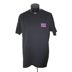 vans off the wall t-shirt man large black graphic two side