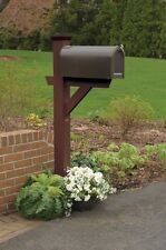Highwood Hazleton mailbox post in weathered acorn color AD-MLBX1-ACE NEW