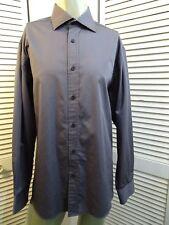 Mens BUGATCHI UOMO Convertible French Cuff LS Dress Shirt PLATINUM PLUM XL
