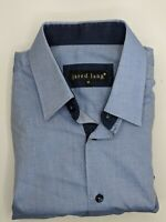 Jared Lang Men's Button Front Casual Dress Shirt Contrasting Flip Cuff Size M