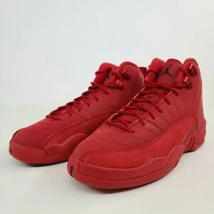 Nike Air Jordan 12 Retro GS Gym Red Size 7Y / Women's 8.5 153265-601 No Lid