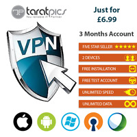 VPN SERVICE ALL IN ONE ACCOUNT 3 Months 2 Devices +200 Servers 7 Countries