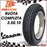 RUOTA COMPLETA 3.50.10 CERCHIO GOMMA CAMERA PER VESPA PX 125-150-200 /ARCOBALENO