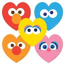 "20 Sesame Street Heart Shaped Stickers, Approx. 2"" Each"