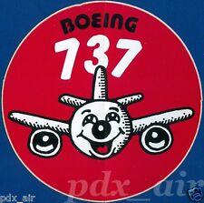 RED VINTAGE CLASSIC BOEING 737 v1 AIRLINER STICKER