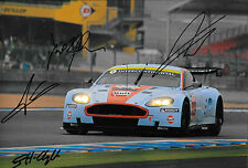 BRABHAM/GARCIA/TURNER firmato 12x8 ASTON MARTIN DBR9 GT1 LE MANS 24hrs 2008
