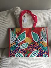 Vera Bradley Market Tote Rumba NWT 60% Recycled Reusable Eco Grocery Christmas