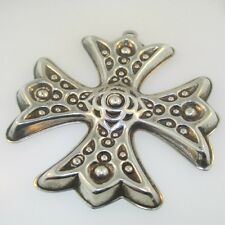 Barton Christmas Cross Ornament Sterling Silver 1975 Reed &
