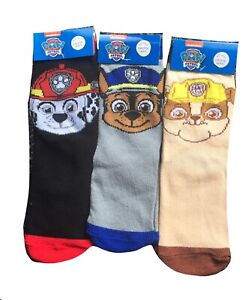 3 pairs Boys paw patrol stripe socks grey,beige,black sizes 9-12/12.5-3.5