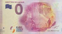 BILLET 0  EURO  GROTTES DE LACAVBE   FRANCE  2017  NUMERO 100