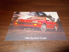 1985 Buick Skyhawk Coupe Vintage Advertising Postcard