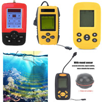 Portable Fishing Sonar Handheld Fish Finder Fishfinder Alarm Sensor Transducer