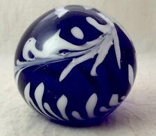 Vintage Cobalt Blue Glass Paperweight, Baccarat?