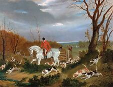 "1833- John Frederick Herring, Fox Hunting, Horse,Hounds dogs, 14""x11"" Art Printt"