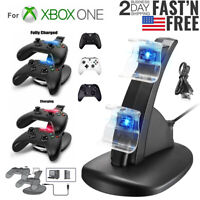 For Xbox One / Xbox One S Dual Controller Charger Dock Station USB Fast Charging