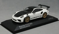 Minichamps Porsche 911 991 GT3RS Weissach in White w/Gold Wheels 2018 410067022