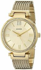 Guess U0638L2 Women's Sophisticated Gold Tone G Link Bracelet Watch