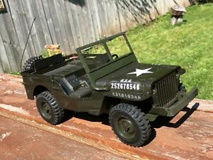 Vintage 1970 Cox Gas Powered Military Jeep Tether Car