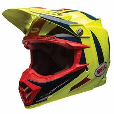 Bell MX Moto-9 Flex Vice Blue / Yellow Off Road Helmet
