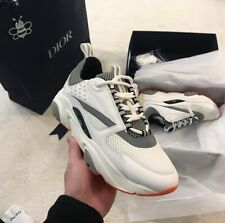 New Dior B22 White/Grey Sneakers With Orange Sole DEADSTOCK