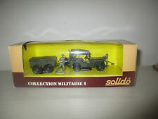 JEEP REMORQUE  COLLECTION MILITARE I N°6034 SOLIDO SCALA 1:43