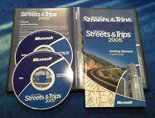 Microsoft Streets & Trips 2005 PC Map Software Retail Version Navteq 2-Disc CD