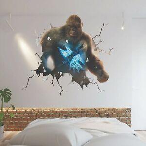 KING KONG SMASH THROUGH WALL STICKER VINYL ART DECAL 3D EFFECT