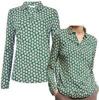 SEASALT Bettony 'Porthmeor Daisy Sycamore' Cotton Blend Top Shirt Blouse 10 - 18