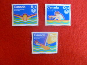 1975 CANADA  MONTREAL OLYMPIC GAMES  SET OF 3  STAMPS MUH  5TH FEBRUARY