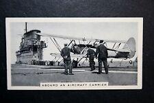 Royal Navy Aircraft Carrier Flight Deck    Vintage Action Photo Card # VGC