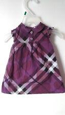 Authentic Burberry Purple Hearts Check Dress Girls/Infants Size 6 Months