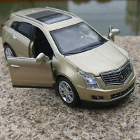Cadillac SRX SUV 1:32 Model Cars Sound&Light Alloy Diecast Champagne Gold Gifts