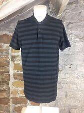 Herren Calvin Klein gestreift Polo T Shirt Tee CK USA Größe XXL neuwertig Freizeit (792)