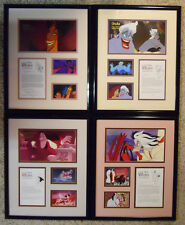 COMPLETE SET! Disney Villains Cast Member Exclusive Framed Print Art Set