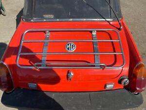 Mg Midget Boot lid with luggage rack in orange