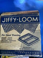"""New Listing1940s Vintage Hand Weaving 4-3/4"""" Calcraft Jiffy-Loom #401 In Box"""