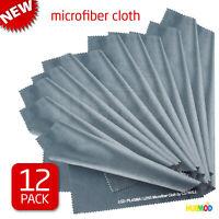 "12-Pack Microfiber Cleaning Cloth LCD Screen Lens Camera Eyeglasses Glasses 8x8"""