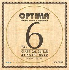 OPTIMA No.6 24K GOLD Classic STRINGS Nylon High Konzertgitarre Saiten SATZ