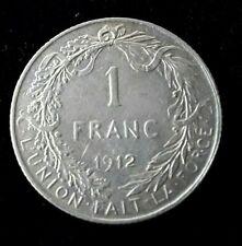 1 Franc Albert Ier légende française 1912