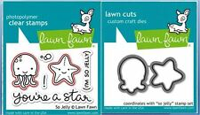 Lawn Fawn Photopolymer Clear Stamp & Die Combo ~ SO JELLY Starfish ~ LF899,LF900
