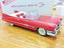 Danbury Mint Cadillac 1959 Series 62 1:24 Scale Die Cast Certificate A46
