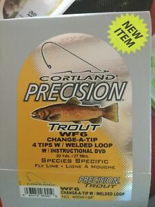Cortland precision trout change-a-tip fly line WF6