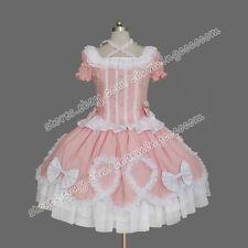 Reenactment Sweet Gothic Lolita Punk Gorgeous Pink Cute Dress Theatre Clothing