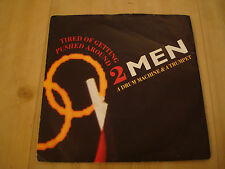"2 MEN A DRUM MACHINE & A TRUMPET-TIRED OF GETTING PUSHED AROUND  (LONDON 7"")"