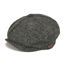 Vintage Wool Tweed Flap Cap 8 Panel Newsboy Cabbie Hat Baker Gatsby Drivers Hat